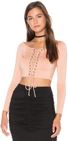 Rachel Pally Lace Up Cunningham Top