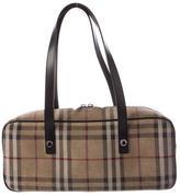 Burberry Nova Check Suede Bag