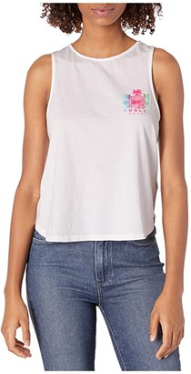 Hurley Get Shacked Flouncy Tank Top (White) Women's Clothing