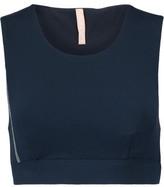NO KA 'OI No Ka'Oi Lani Cropped Bead-Embellished Stretch-Jersey Sports Bra