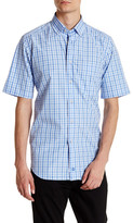 David Donahue Short Sleeve Check Regular Fit Shirt