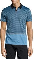 HUGO BOSS Contrast-Stripe Polo Shirt, Light Blue