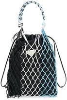 Prada Mesh Detailed Nylon Handbag