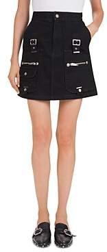 The Kooples Hardware Detail Denim Mini Skirt