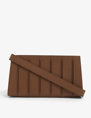 Max Mara Whitney large leather clutch bag