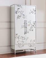 John-Richard Collection Francene Eglomise Tall Cabinet