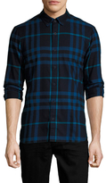 Burberry Ecclestone Woven Cotton Sportshirt