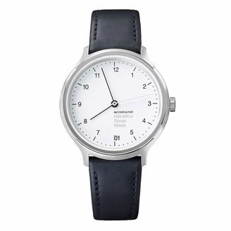 Mondaine Unisex MH1R1210LB Helvetica Analog Display Swiss Quartz Black Watch