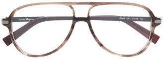 Salvatore Ferragamo Aviator Glass Frames