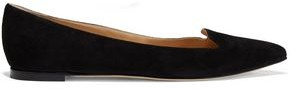 Sergio Rossi Suede Point-toe Flats