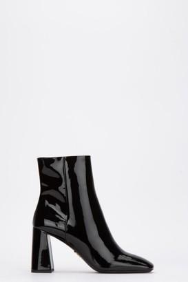 Prada Patent Block Heel Boots