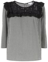 Claudie Pierlot Balnea Gingham Lace Top