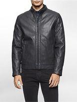 Calvin Klein Mens Faux Leather Jacket