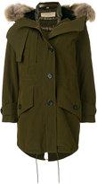 Burberry faux fur hooded coat