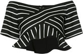 Proenza Schouler ruffle hem cropped top - women - Cotton/Wool - 6