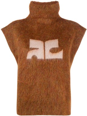 Courreges Sleeveless Roll Neck Sweater