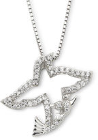 JCPenney Cubic Zirconia Dove Pendant Sterling Silver Necklace
