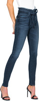 Black Orchid Evan Belted High-Rise Skinny Jeans