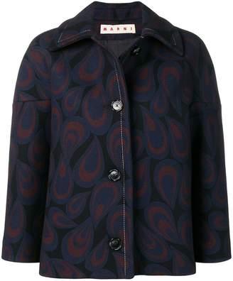 Marni patterned cropped jacket