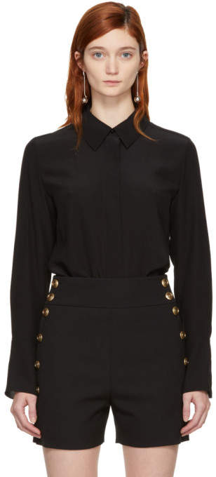 Chloé Black Bow Scarf Shirt