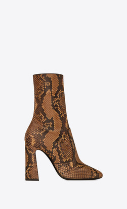 Saint Laurent Heel Booties Maddie Boots In Python Python 3