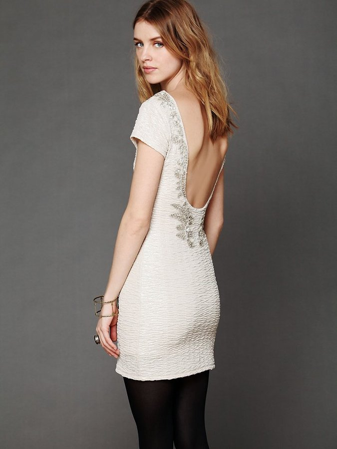 Free People Bringing Sexy Back Holiday Dress