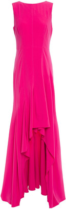 Halston Ruffled Crepe Gown