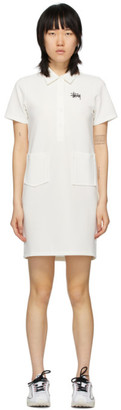 Stussy White Knit Poly Dress