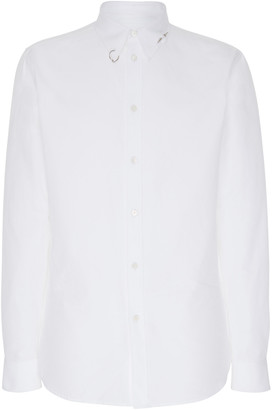 Givenchy Studded-Collar Cotton Button-Front Shirt