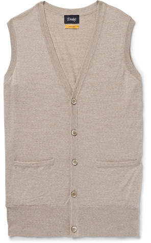 Drakes Drake's Mélange Virgin Wool Sweater Vest