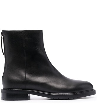 LEGRES Zip-Up Leather Boots