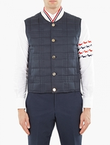 Thom Browne Navy Down-quilted Gilet