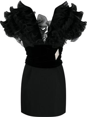 Alexandre Vauthier Ruffle Mini Dress