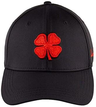 Black Clover Premium Clover 24 Hat (Red Clover/Grey Trim/Black) Baseball Caps