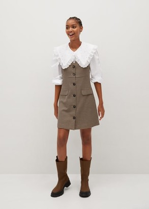 MANGO Pinafore dress with buttons