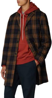 Ben Sherman British Youth Club Check Wool-Blend Tailored Coat