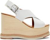 Flamingos Ecru Trendy Wedge Sandals