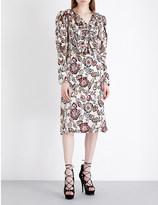 Rodarte Floral-print silk dress