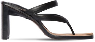 Miista 85MM SEBRINA LEATHER THONG SANDALS
