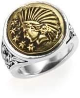King Baby Studio Liberty Headdress Signet Silver Ring