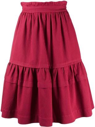 Kenzo Elasticated Waist Tiered Skirt