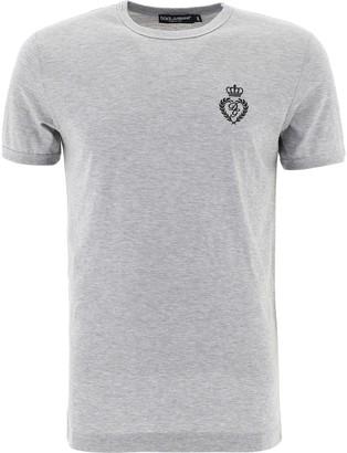 Dolce & Gabbana Logo Embroidered T-Shirt