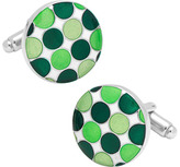 Cufflinks Inc. Men's Green Polka Dot Cufflinks