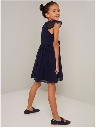 Chi Chi London Girls Tamatha Dress - Navy