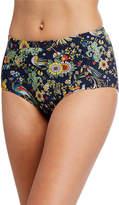 Tory Burch Printed High-Waist Bikini Bottom