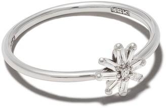 Suzanne Kalan 18kt white gold small Starburst diamond ring
