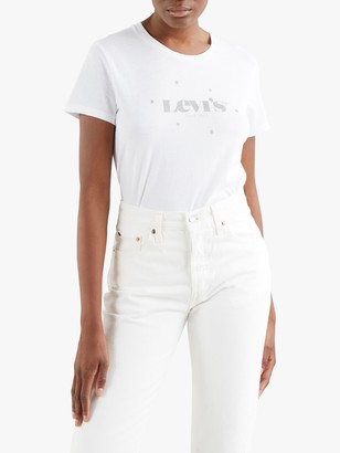 Levi's The Perfect Floral Print Logo T-Shirt, White