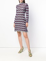 ALEXACHUNG Alexa Chung scallop knit A-line dress