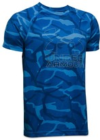 Under Armour Boys' Big Logo Hybrid Print Tee - Sizes S-XL