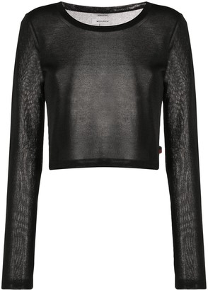 Woolrich Cropped Crew-Neck Jumper